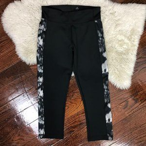 Adidas Leggings Cropped Capri Workout Tights Sz S
